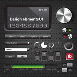 Design elements Dark User Interface Royalty Free Stock Photo