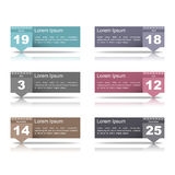 Design Elements with Dates Stock Image