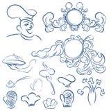 Design elements for design menu restaurant or cafe. Vector decor Stock Image