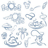 Design elements for design menu restaurant or cafe. Vector decor Stock Photo