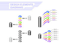 Design elements. Diagrams Stock Image