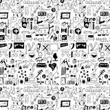 Design elements doodle icons, hand drawn Stock Image