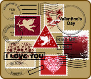 Design Elements for Envelope. Valentine's Day. Stock Images