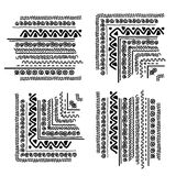 Design elements with ethnic handmade ornament Royalty Free Stock Image