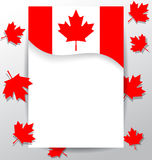 Design elements  flag for the national day of Canada Royalty Free Stock Photo