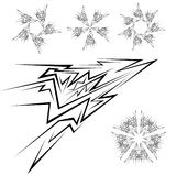 Design elements. Flash. Royalty Free Stock Image