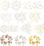 Design elements flower Stock Photo