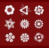 Design elements: Flowers (part1). Design elements: Flowers (9 icons - part1 Stock Photography