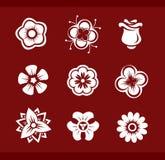 Design elements: Flowers (part2). Design elements: Flowers (9 icons - part2 Stock Photos