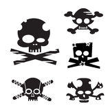 Design Elements Funny Skulls Royalty Free Stock Photos