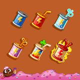 The design elements of the game interface. Energy bottle, booster for the game interface Royalty Free Stock Image