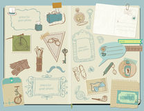 Design Elements - Gentlemen's Accessories. Scrapbook Design Elements - Gentlemen's Accessories doodle collection - hand drawn in Stock Image