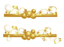 Design elements in gold. Stock Photos