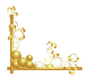 Design elements in gold. Royalty Free Stock Photo