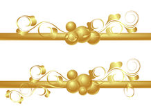 Design elements in gold Royalty Free Stock Image