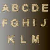 Design elements - gold 3D font. Stock Image