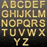 Design elements - gold 3D font. Stock Photos