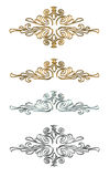 Design elements Gold and silver Stock Photography