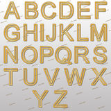 Design elements - gold wire 3D font. Royalty Free Stock Images