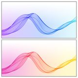 Design Elements Gradient Wave Lines for Business Presentation, P Stock Photography