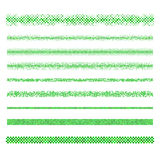 Design elements - green mosaic page dividers. Graphic design elements - green circle mosaic page divider line set Royalty Free Stock Photography
