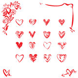 design elements of heart Stock Photos