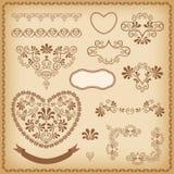 Design elements. Heart. Royalty Free Stock Photos