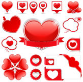 Design Elements with Hearts Royalty Free Stock Image