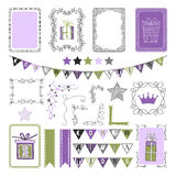 Design Elements for holiday, party, congratulations, frames, elements Royalty Free Stock Photos