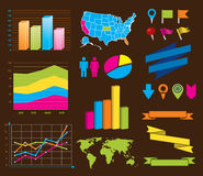 Design elements for info graphics Royalty Free Stock Image