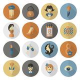 Womans Day Icon Set Royalty Free Stock Photography