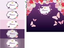 Design elements for invitations royalty free stock photo