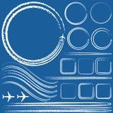 Design elements of jet trails stock illustration
