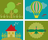 Design elements for kids. Vector design elements for kids Royalty Free Stock Photo