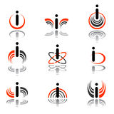 Design elements with letter i Stock Images