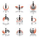 Design elements with letter i. Set 2. Vector art Vector Illustration