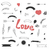 Design elements love. Stock Images