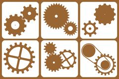Design Elements - machine. Old machine - symbols Stock Image
