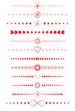 Design elements made of valentines Royalty Free Stock Images