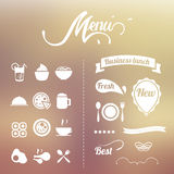 Design Elements menu Stock Image