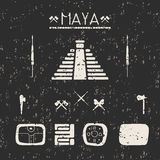 Design elements mystical signs and symbols of the Maya. Royalty Free Stock Images
