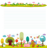 Design elements for notebook, diary. Goodbye summer. Hello autumn Stock Image