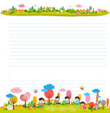 Design elements for notebook, diary. Goodbye summer. Hello autumn Stock Photography