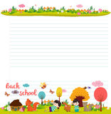 Design elements for notebook, diary. Goodbye summer. Hello autumn Royalty Free Stock Photo
