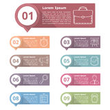 Design Elements with Numbers and Icons Stock Image