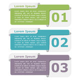 Design Elements with Numbers Royalty Free Stock Photos