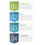 Design Elements with Numbers Stock Photography