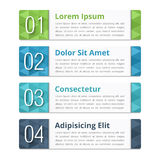 Design Elements with Numbers Royalty Free Stock Image