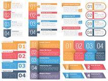 Design Elements with Numbers and Text. Set of infographic templates with numbers and text, business infographics elements set, workflow, process, steps or Stock Photos