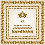 Design elements. Oak Royalty Free Stock Photos